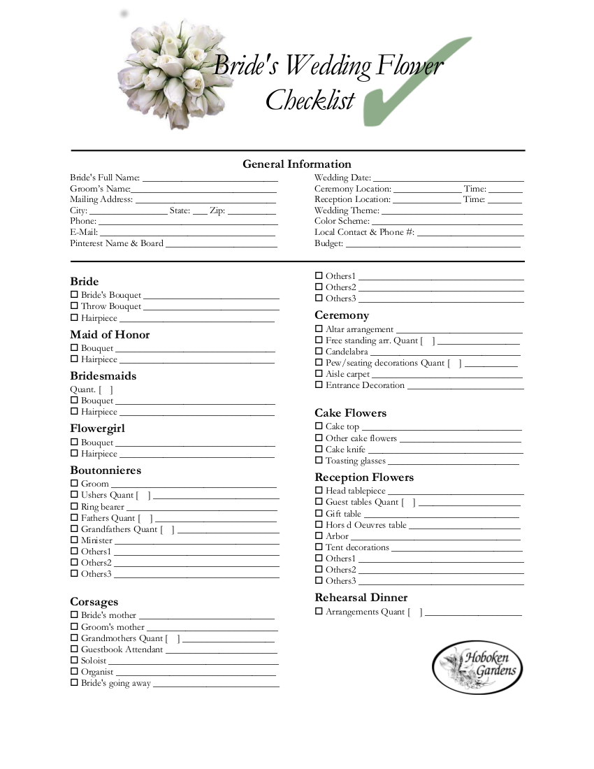 The Mother of Groom Checklist