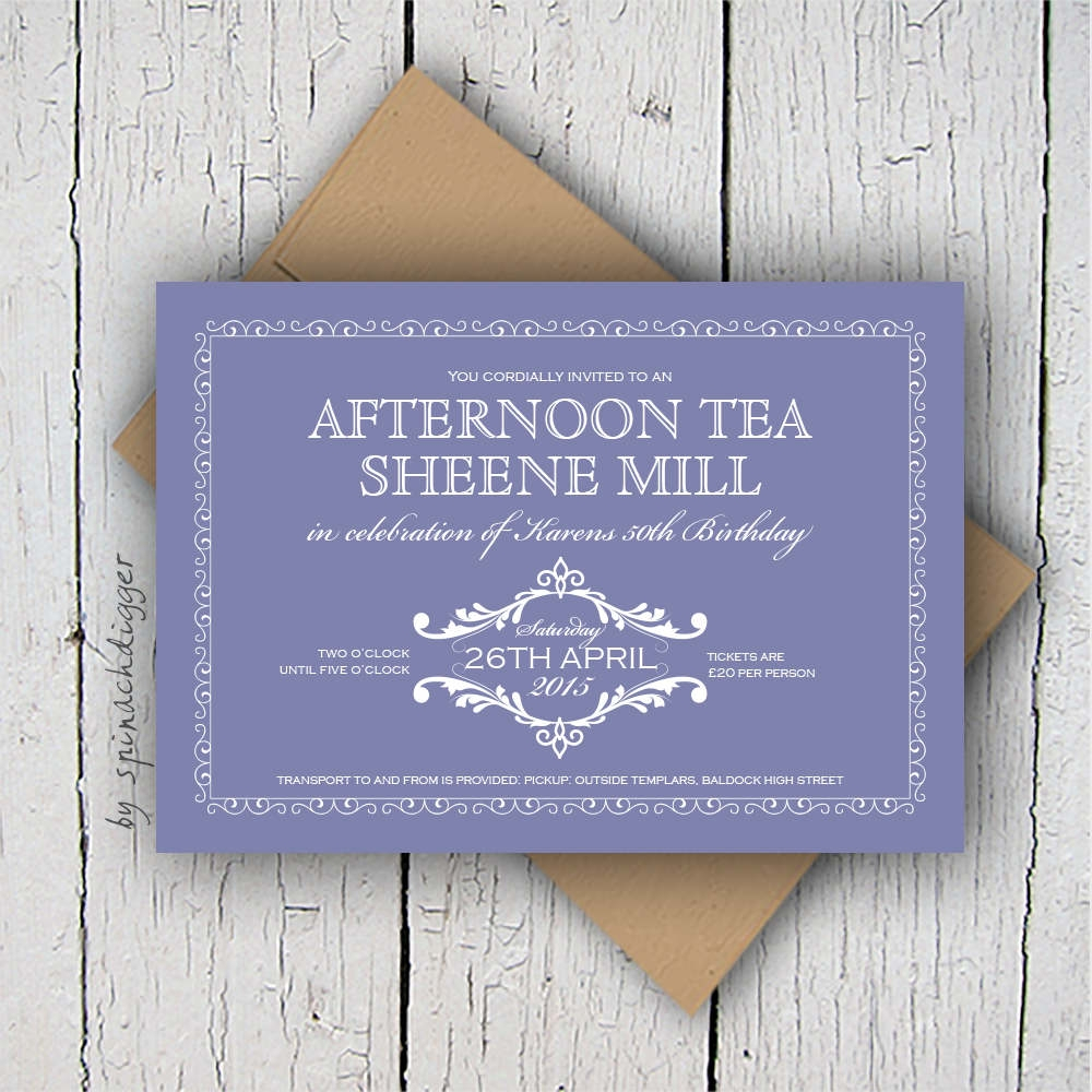 afternoon tea party invitation
