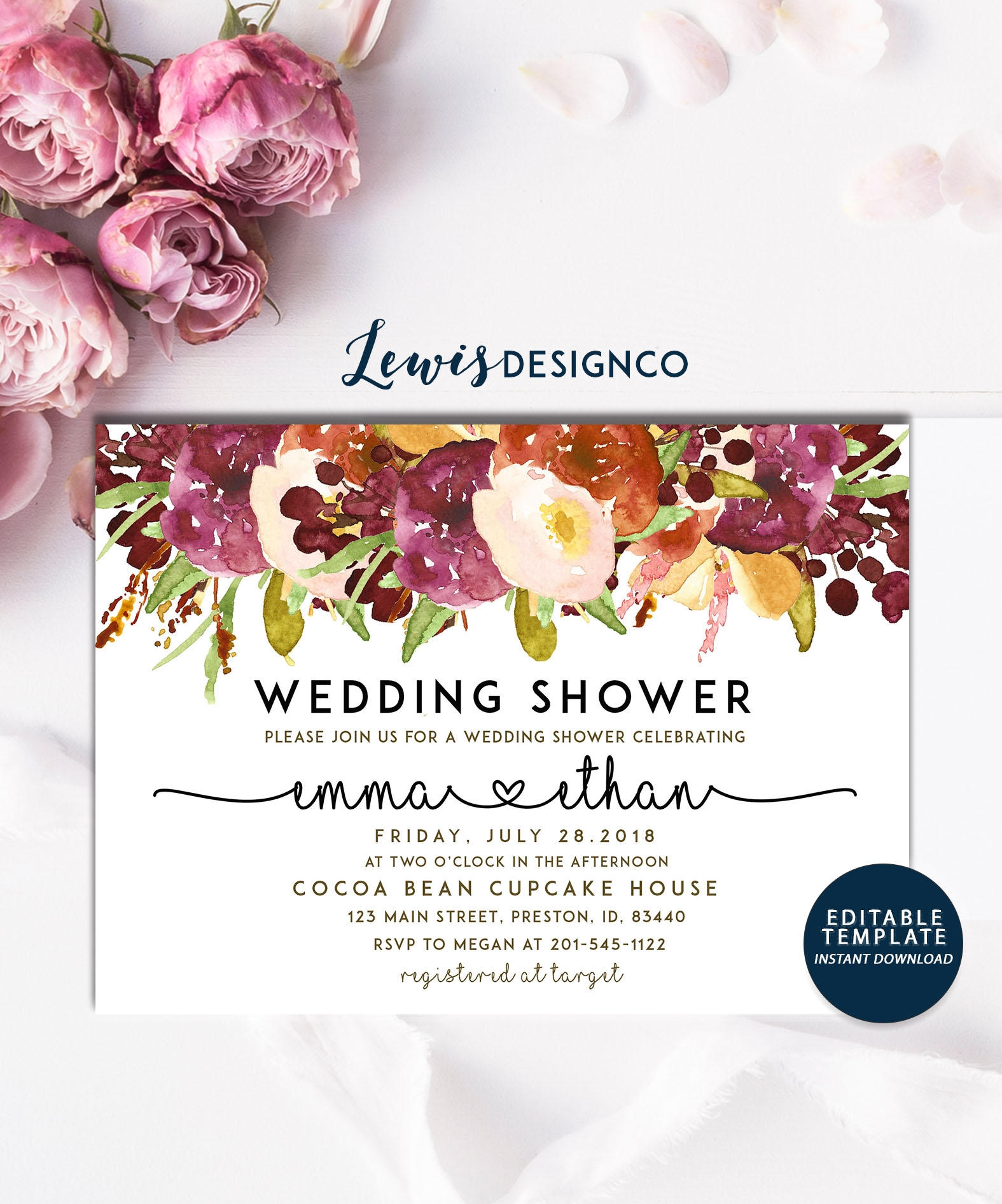 19+ Wedding Shower Invitation Designs and Examples - PSD, AI