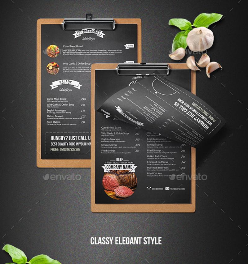 bbq chalkboard menu