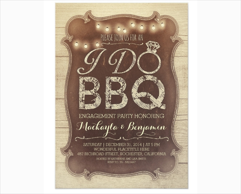 bbq engagement party invitation1