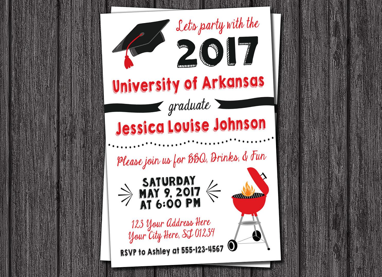 bbq graduation party invitation