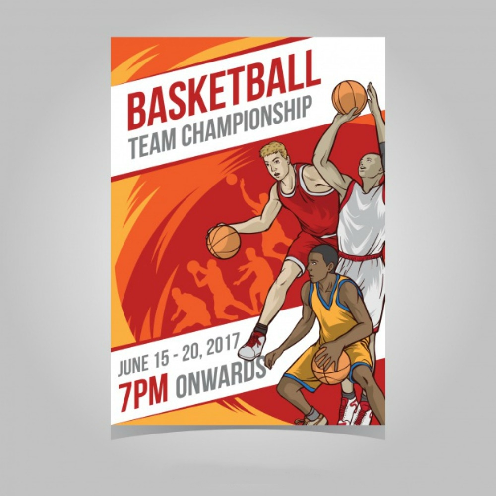 basketball tournament brochure