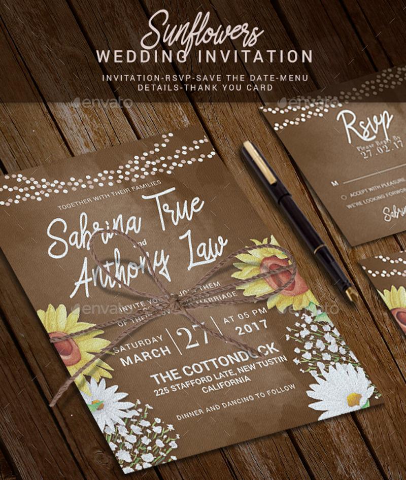 best fall wedding invitation