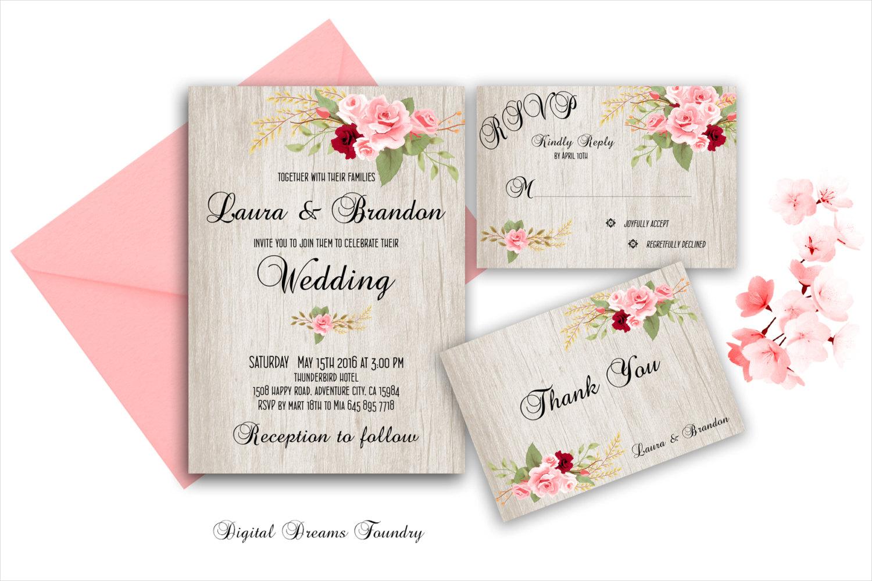 boho wedding invitationn