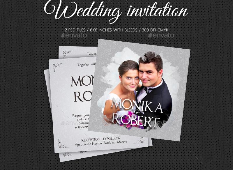 bridal photo wedding invitation