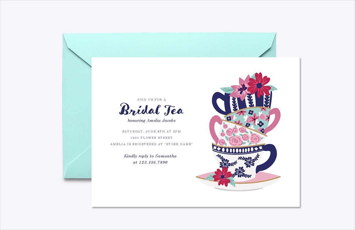 bridal tea invitation design