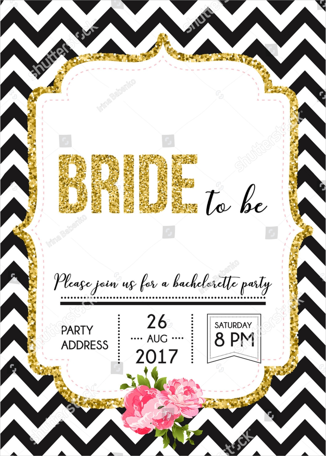 bride bachelorette party invitation