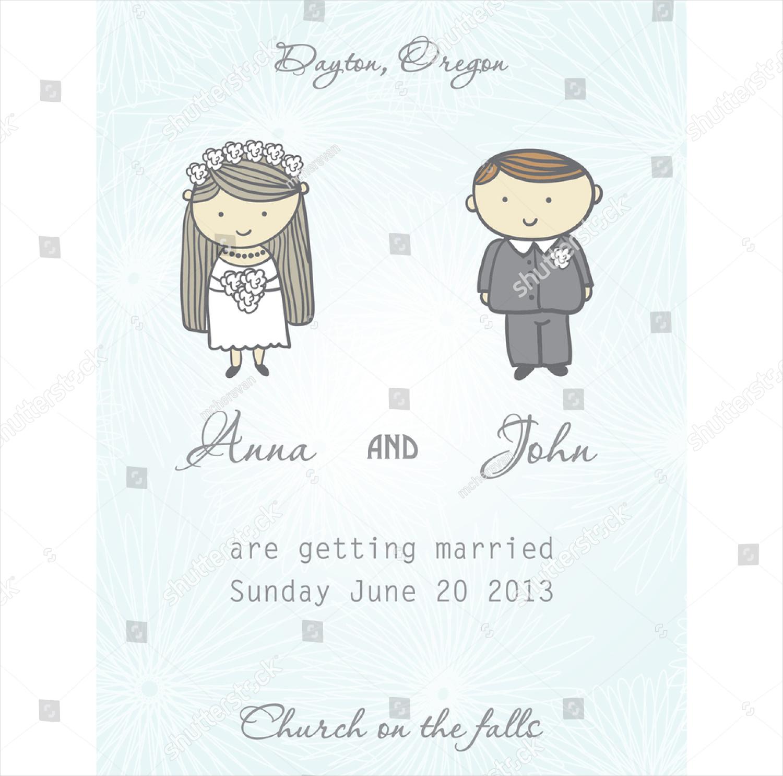 bride and groom funny wedding invitation