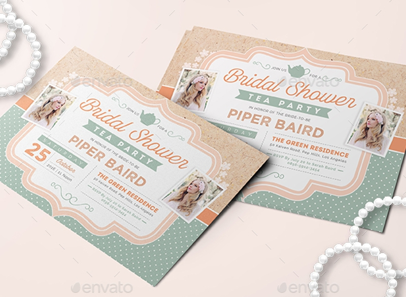 cardboard theme tea party invitation