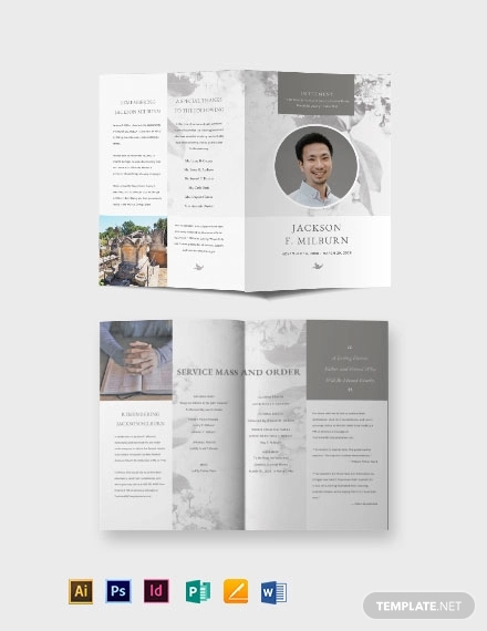 celebration of life evite funeral bi fold brochure template1