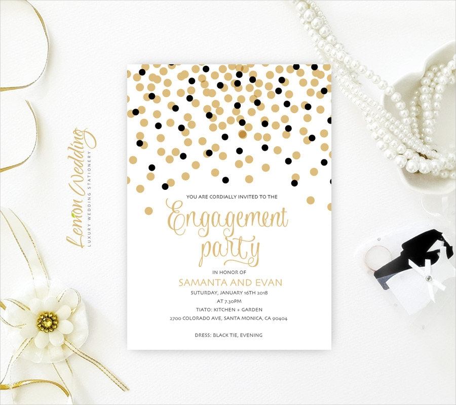 cheap engagement party invitation