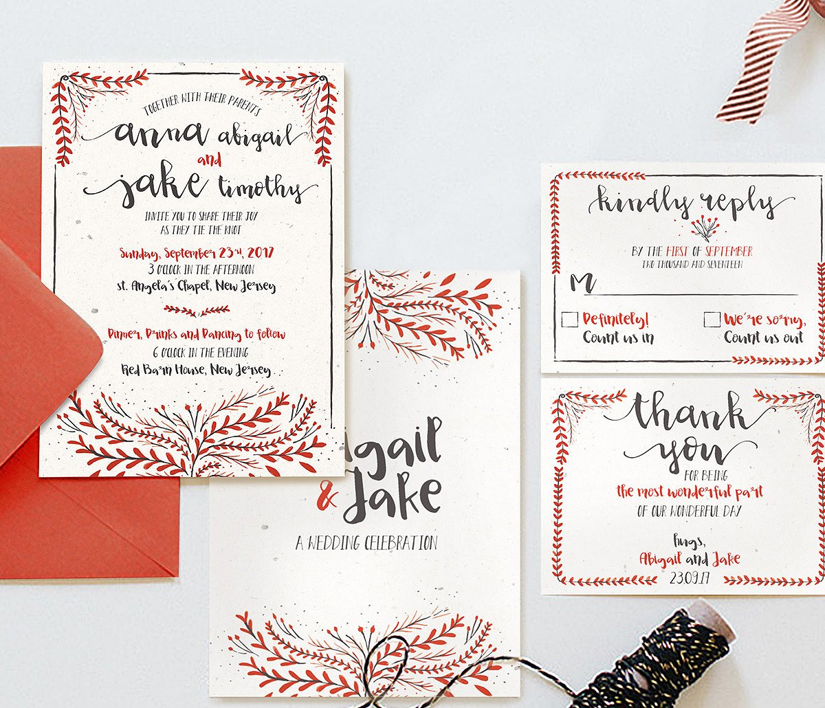 classic watercolor wedding invitations