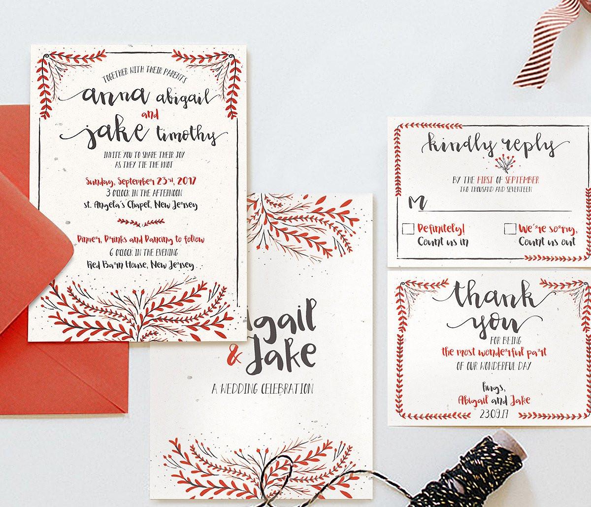 classic watercolor wedding invitations