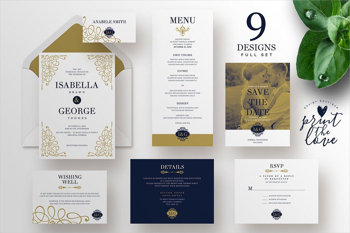 classic wedding invitation2