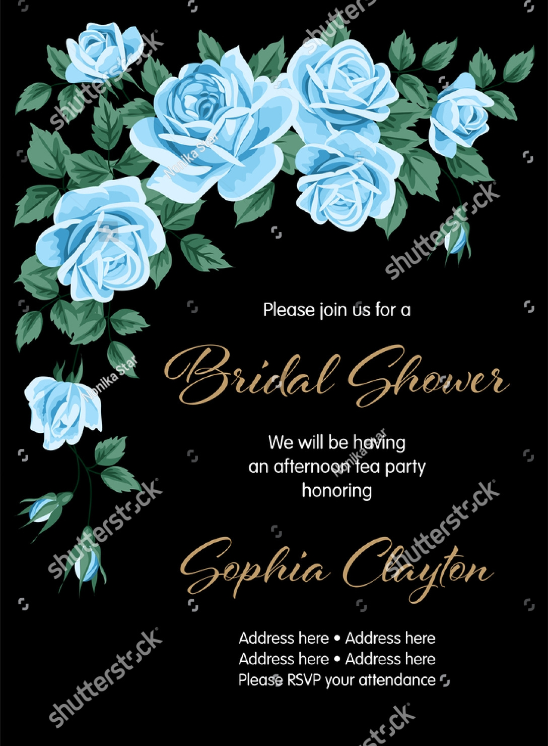 classic wedding shower invitation