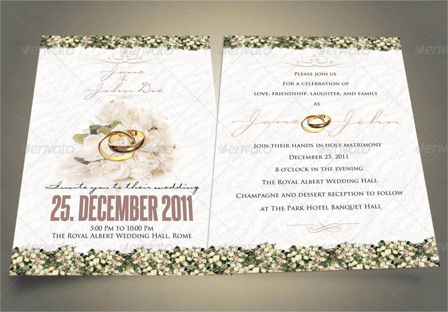 classy wedding invitation