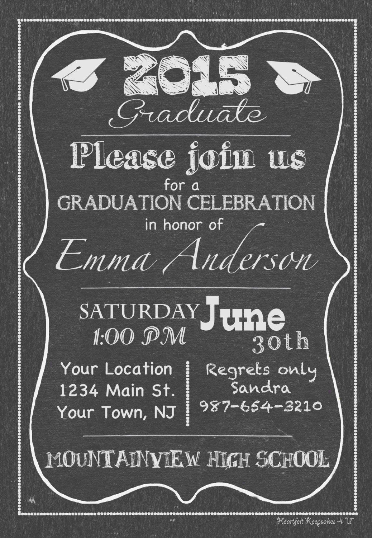 college chalkboard party invitation