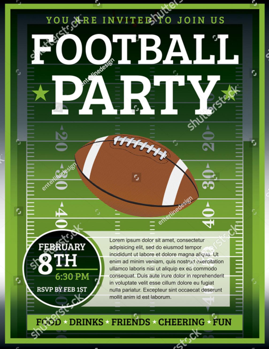 college football party invitation