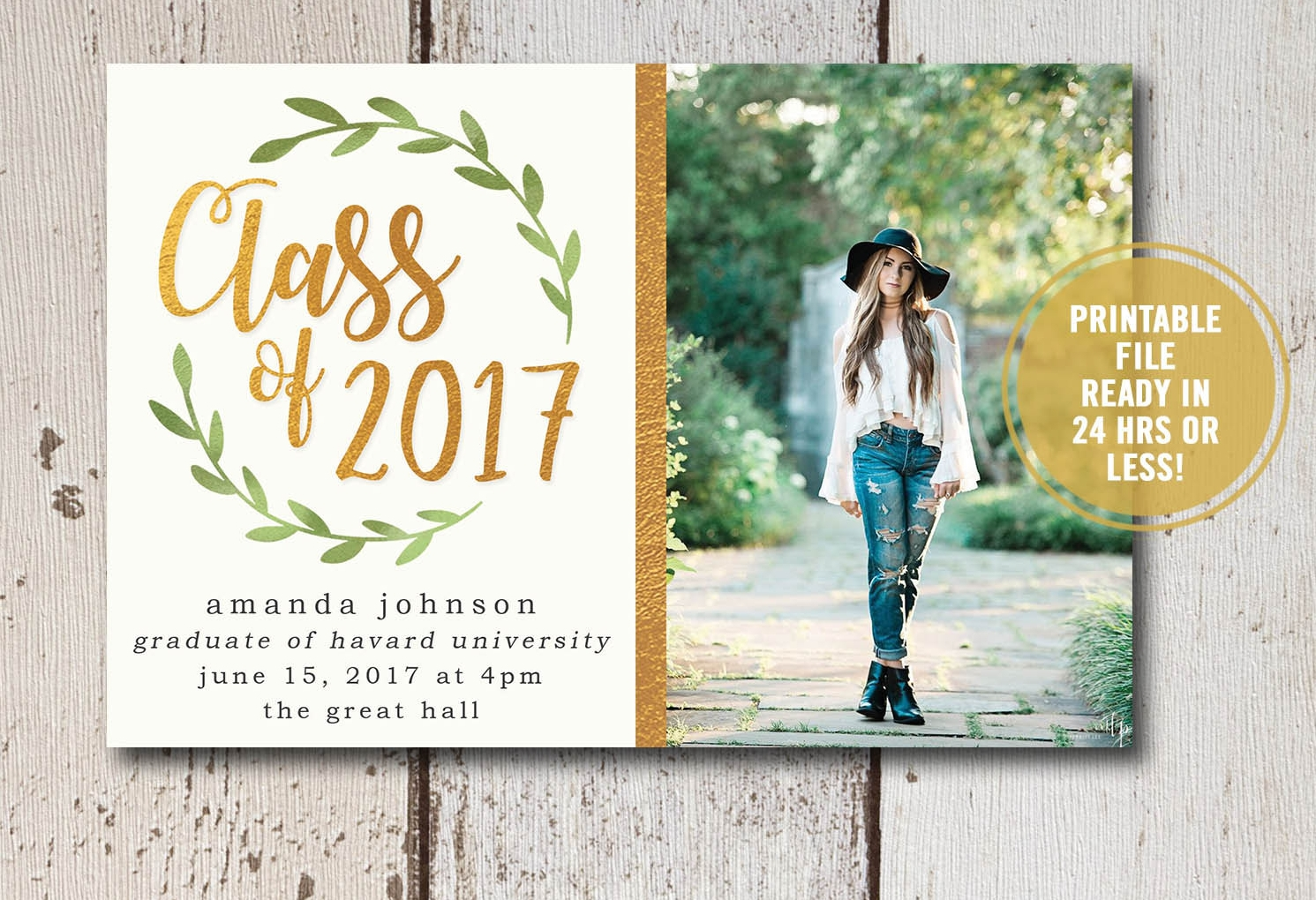 college graduation party invitation