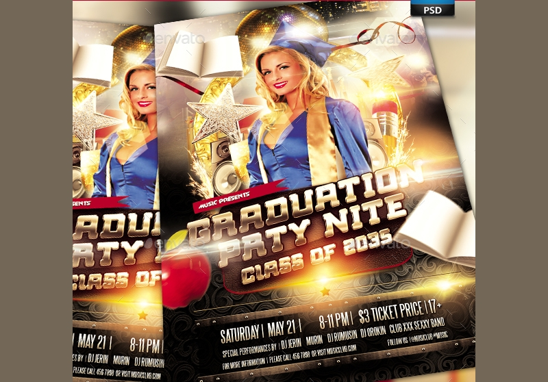 college night party flyer invitation