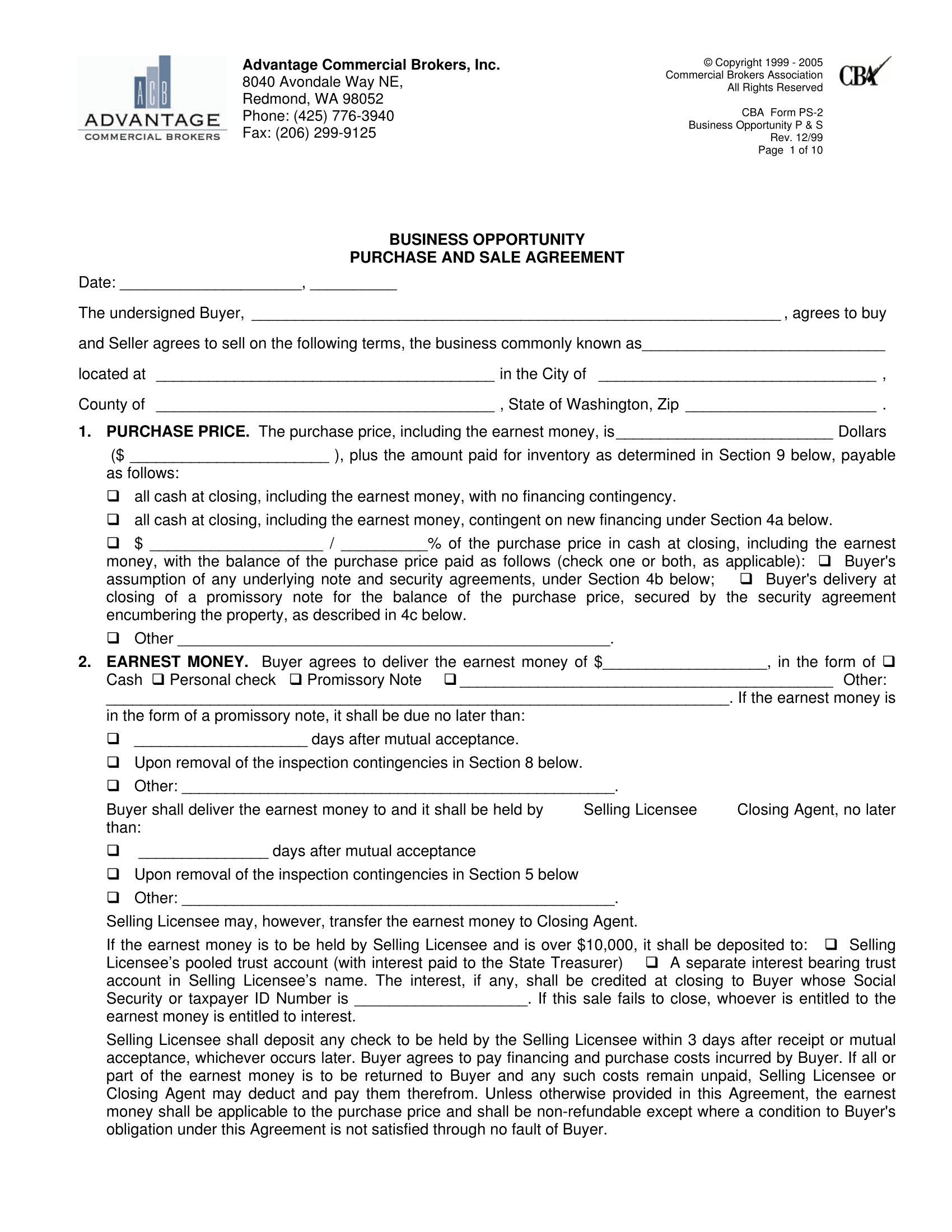 Doc618800 Commercial Purchase Agreements COMMERCIAL PURCHASE – Commercial Purchase Agreement
