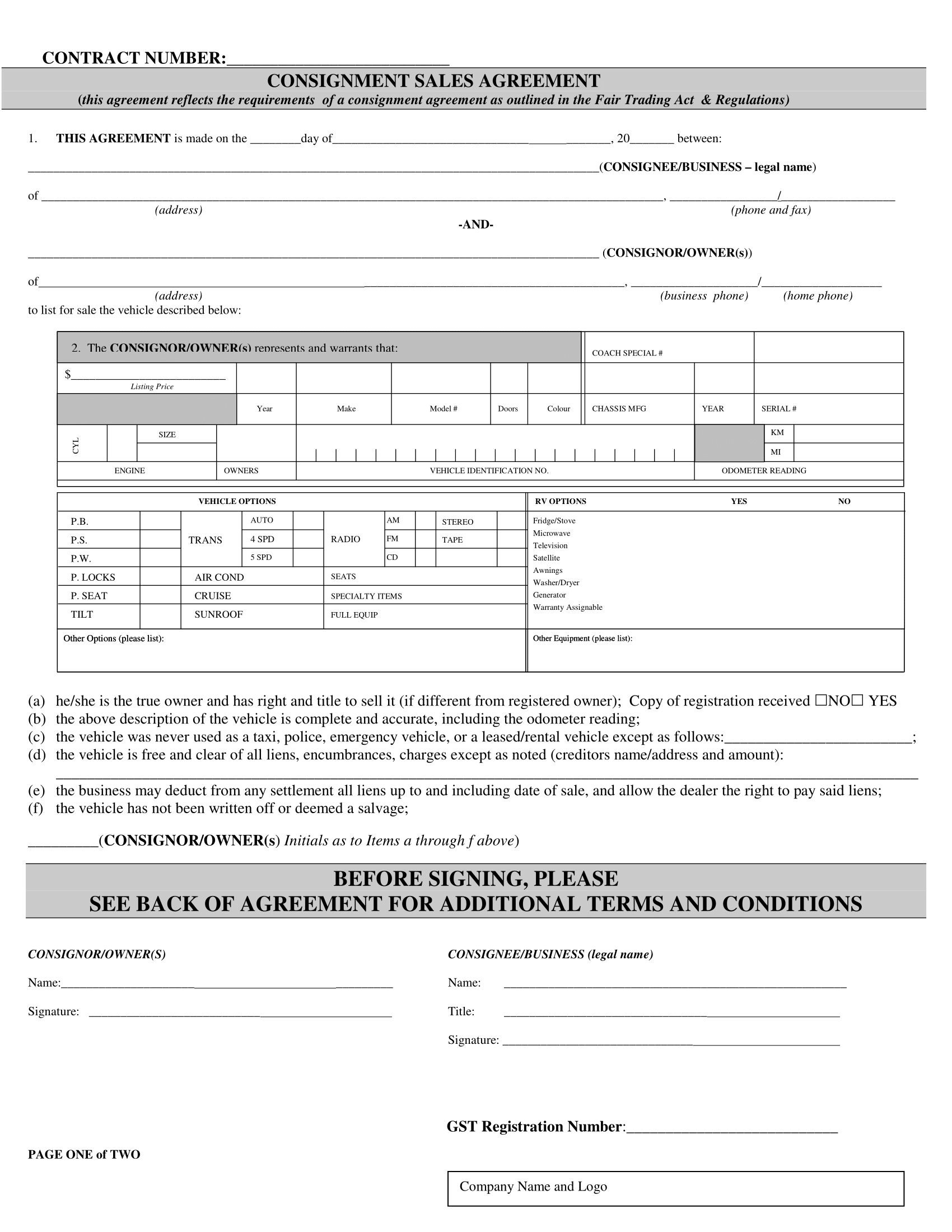 Consignment Sales Agreement Pdf Template Free Download 1  Home Sales Agreement Template