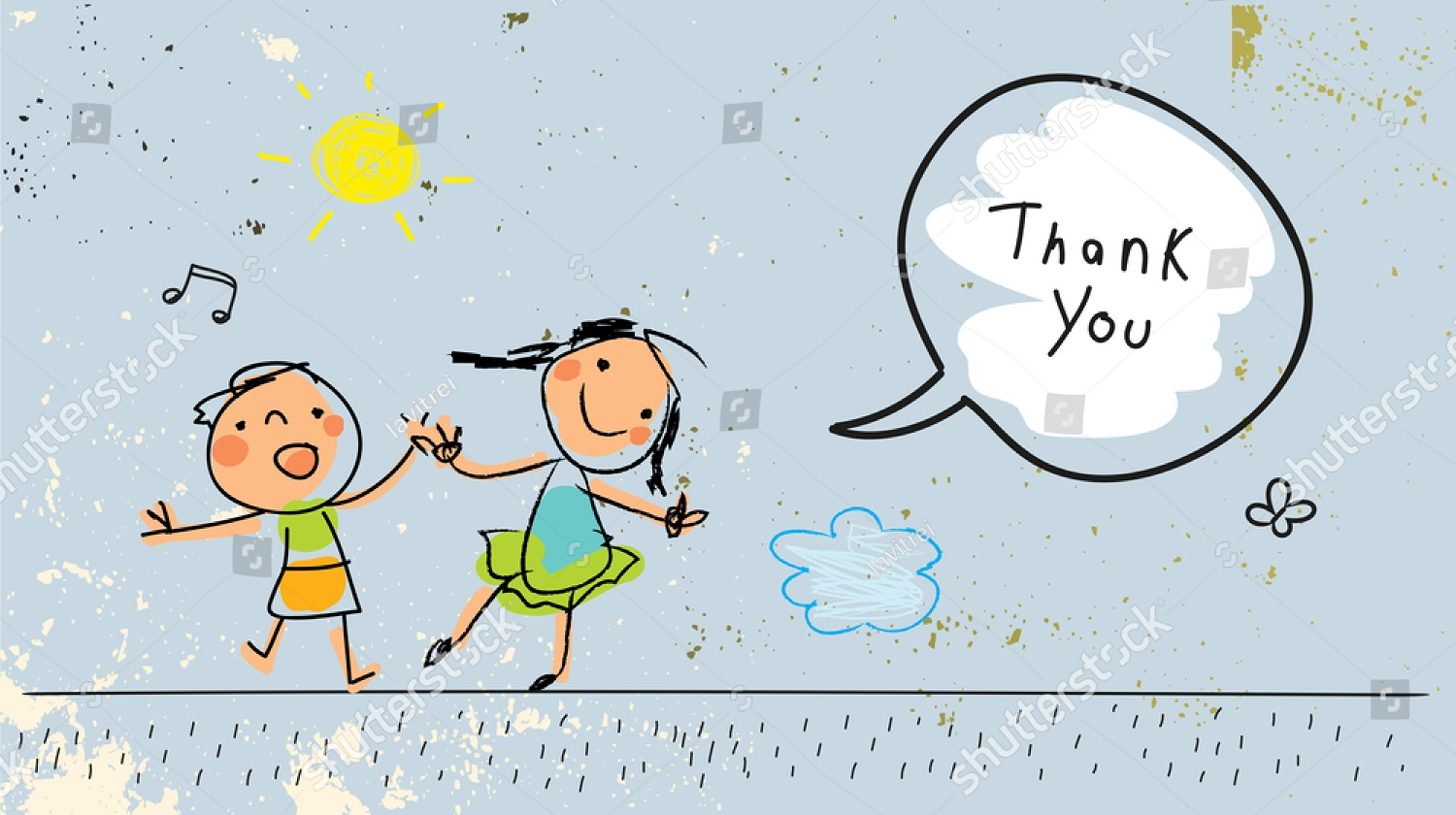 crayon kids thank you card