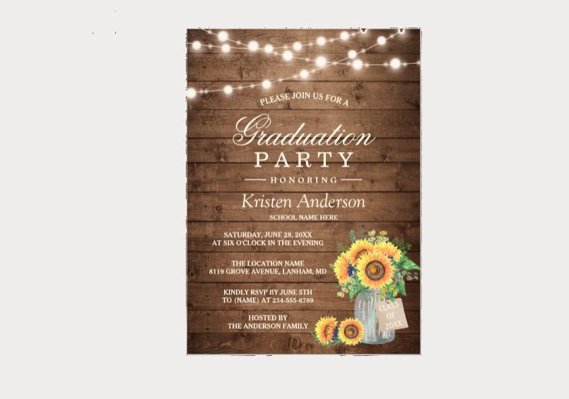 creative graduation party invitation