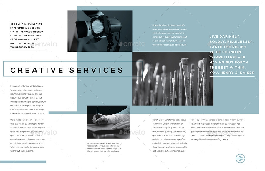 Examples Of Service Brochures  Editable Psd Ai Format Download