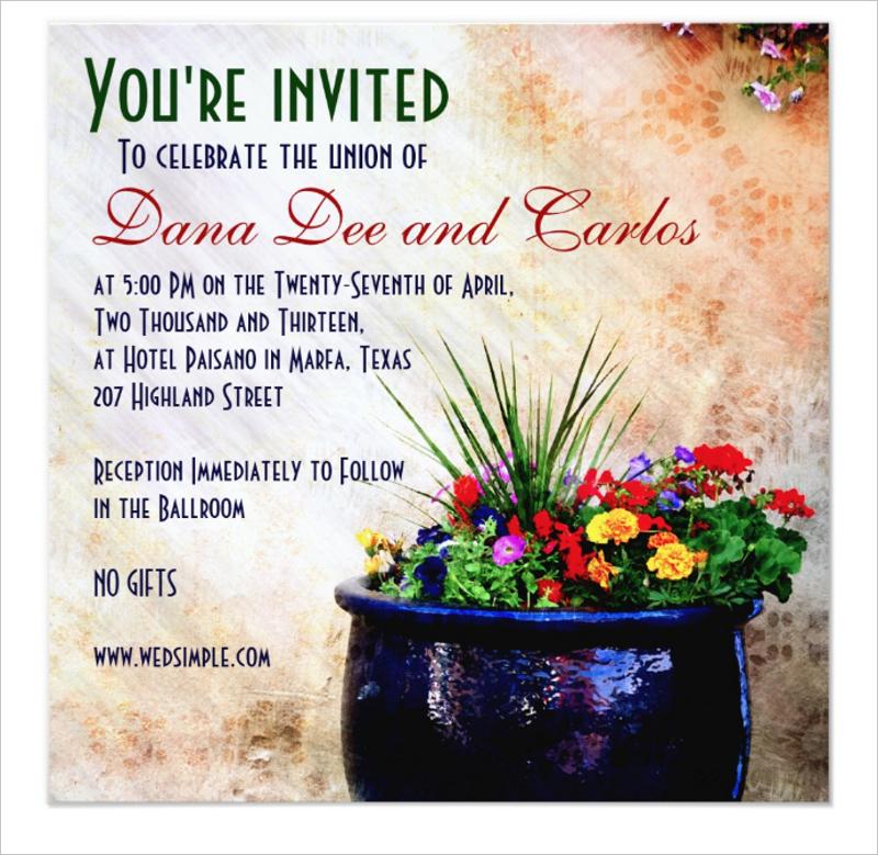 diy southwest inspired wedding invitation