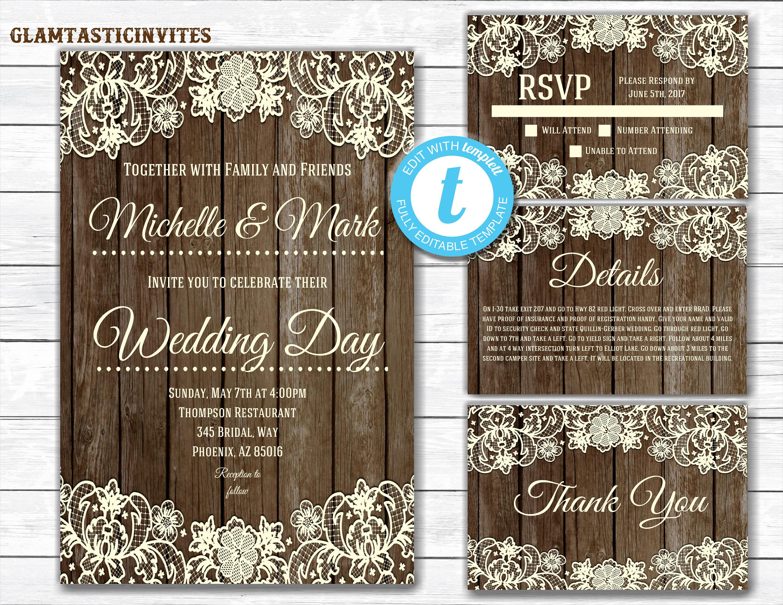 diy wedding invitation1