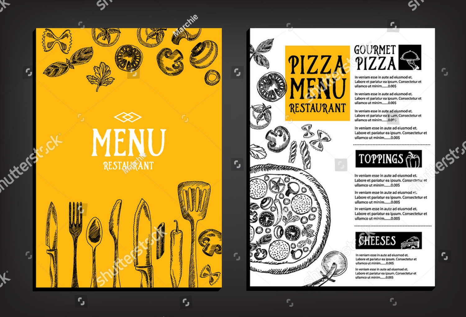 delicious pizza food menu