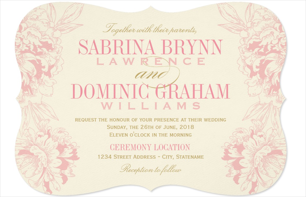 design wedding invitation card