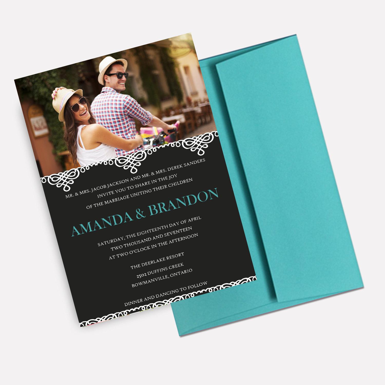 destination photo wedding invitation