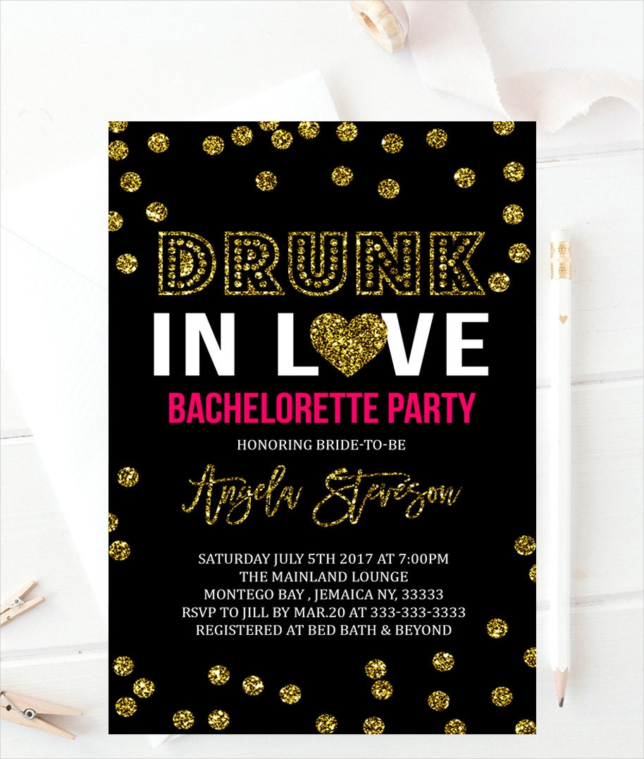 dots bachelorette party invitation