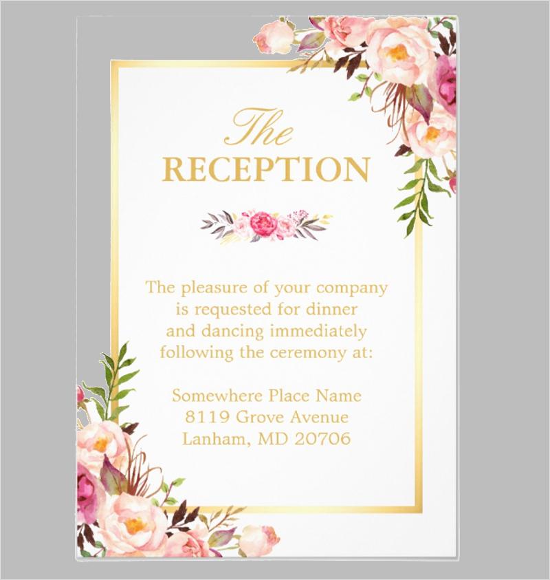 elegant chic floral gold wedding reception