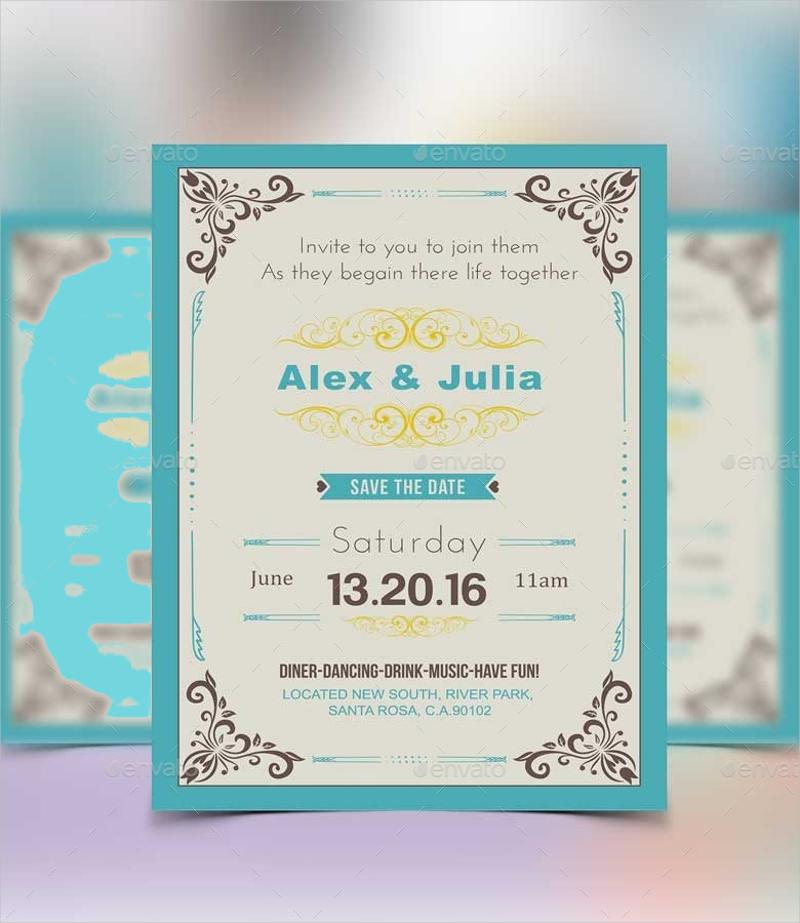 elegant royal wedding invitation