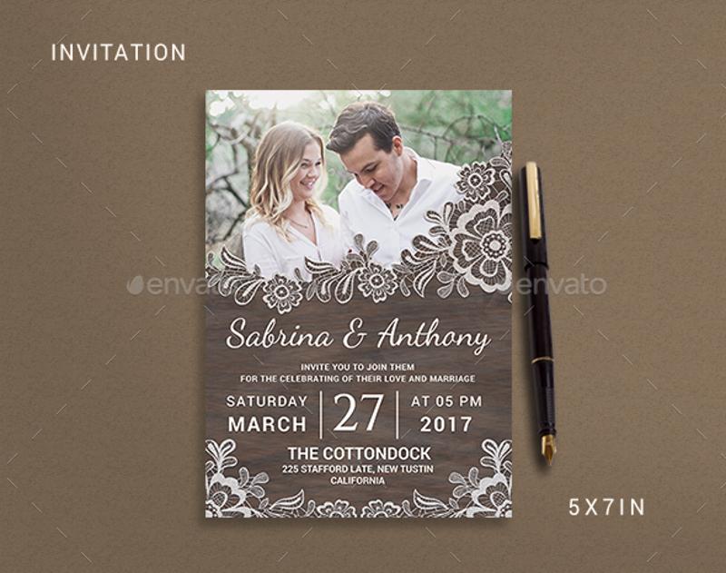 elegant rustic wedding invitation1