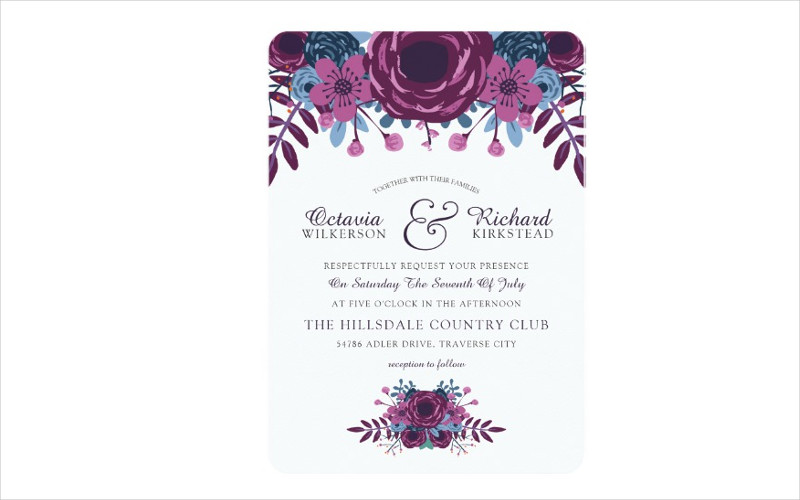 elegant watercolor wedding invitations