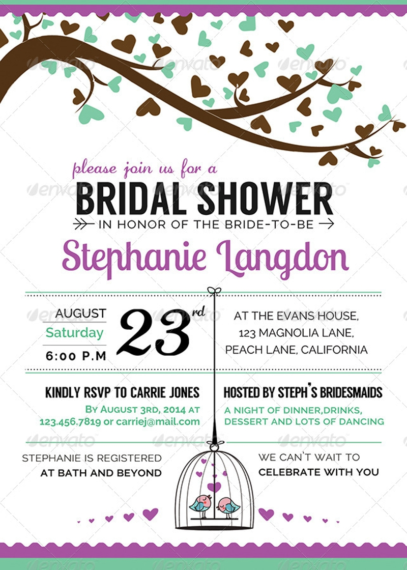elegant wedding shower invitation