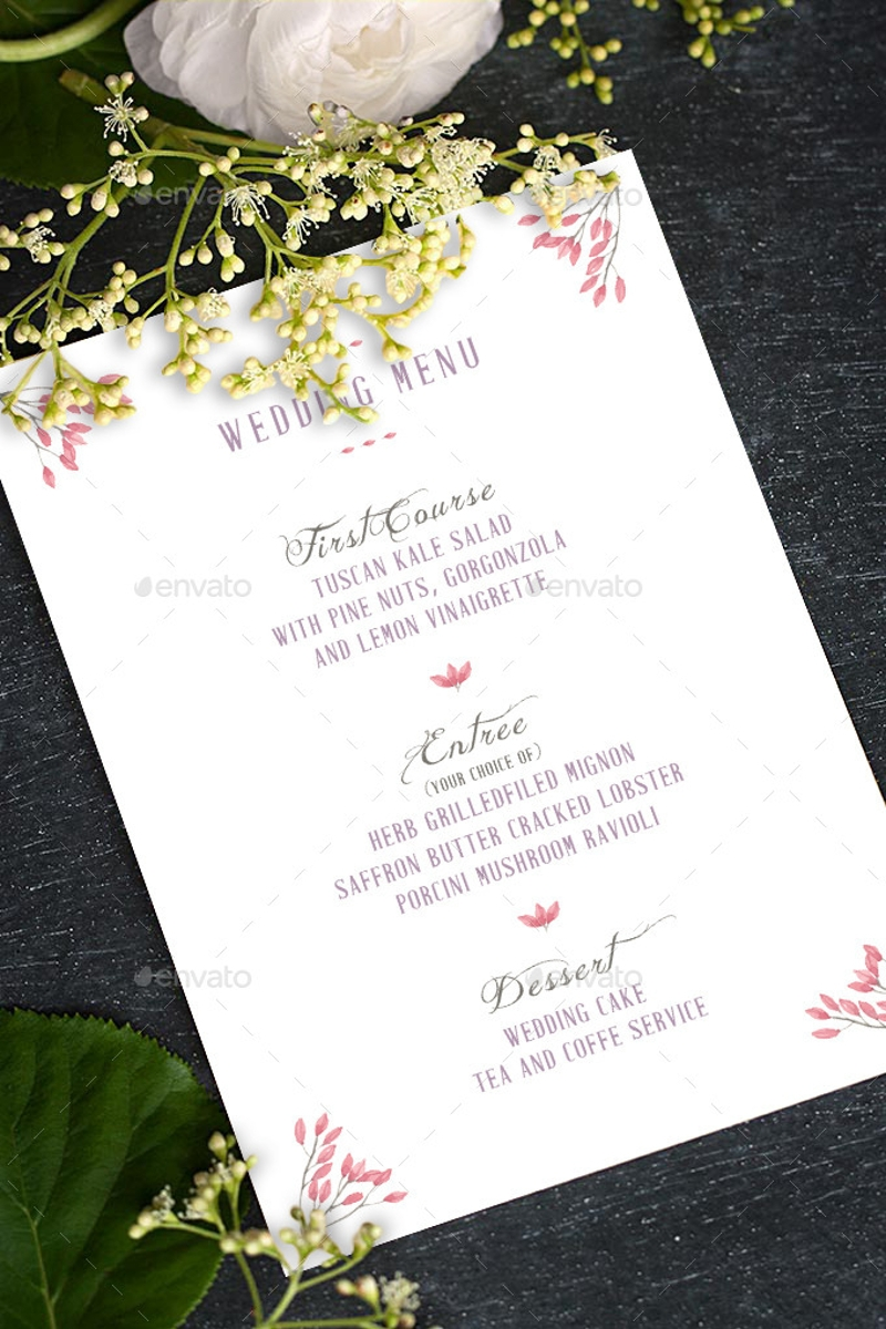 elegant whimsical wedding invitation