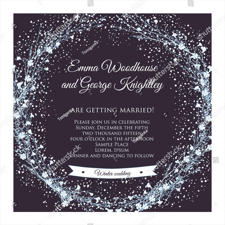 elegant winter wedding invitation