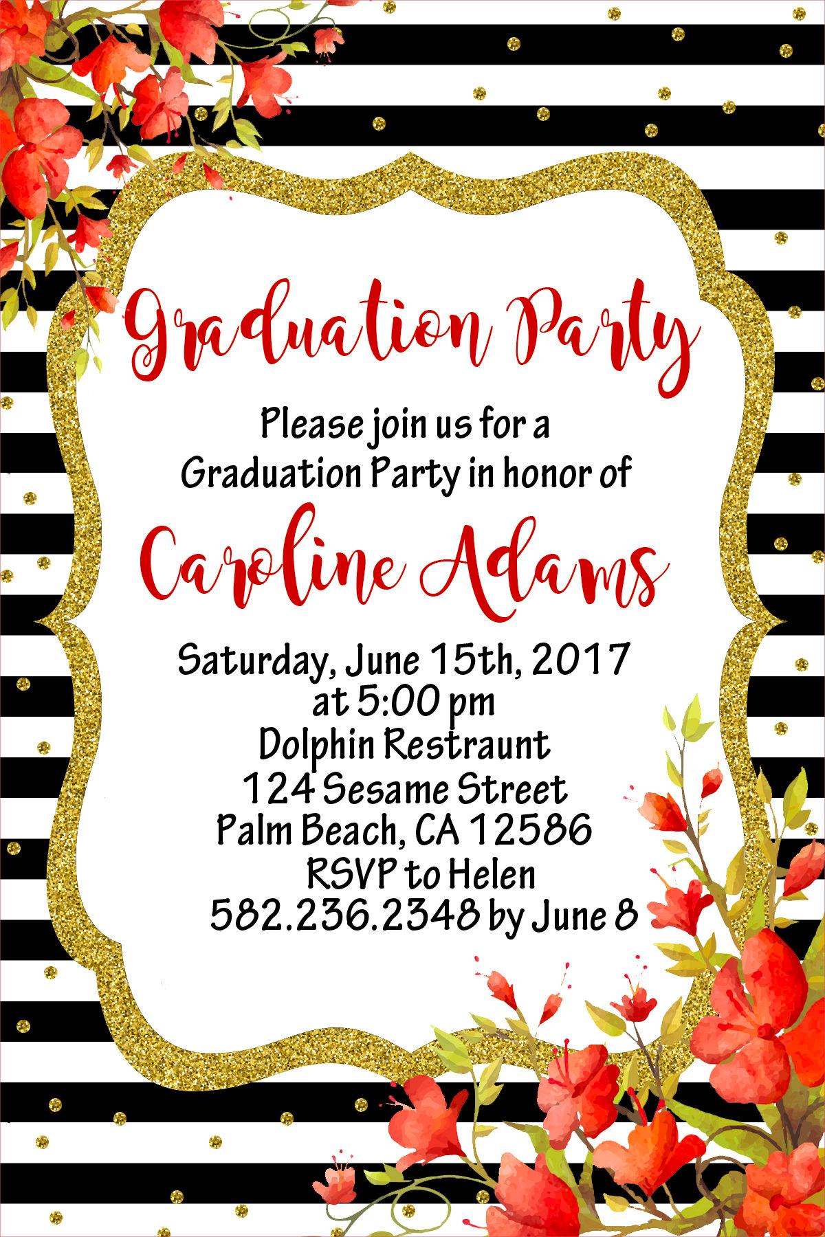 elegant graduation party invitation2