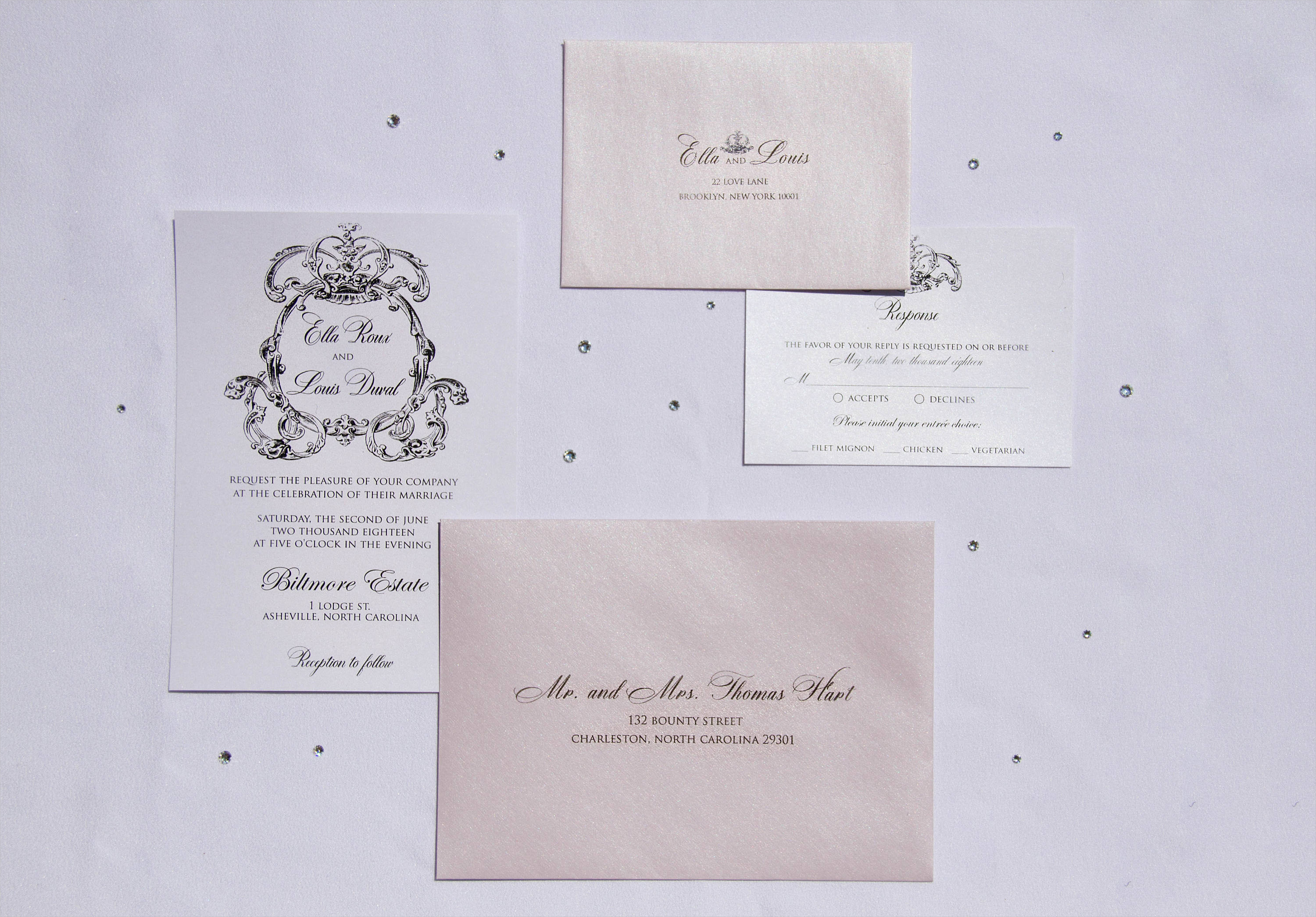 ella royal wedding invitation