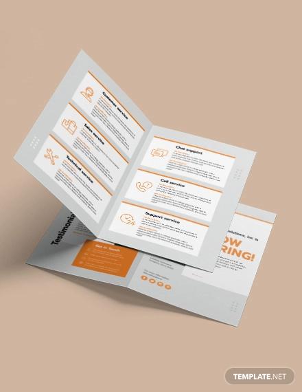 employee recruitment bi fold brochure template