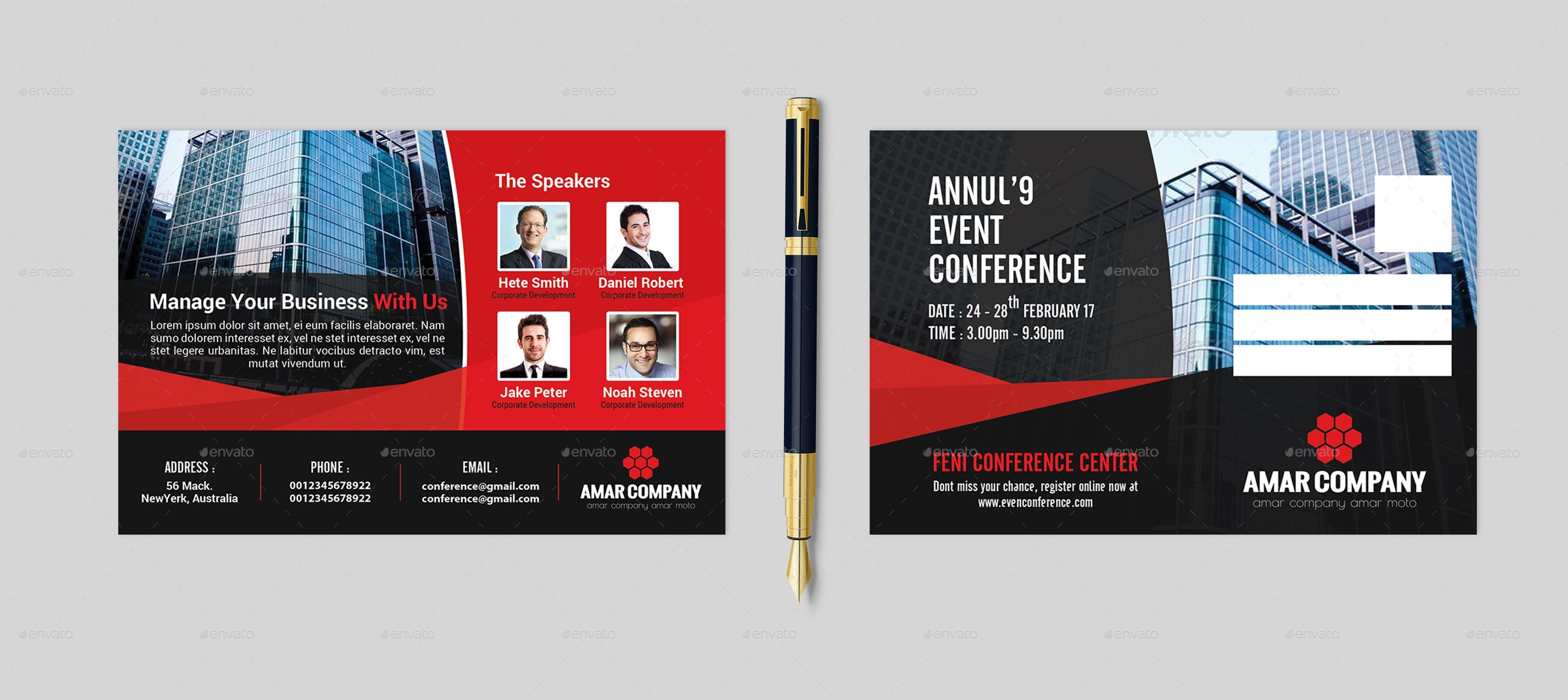 10  event postcard design examples