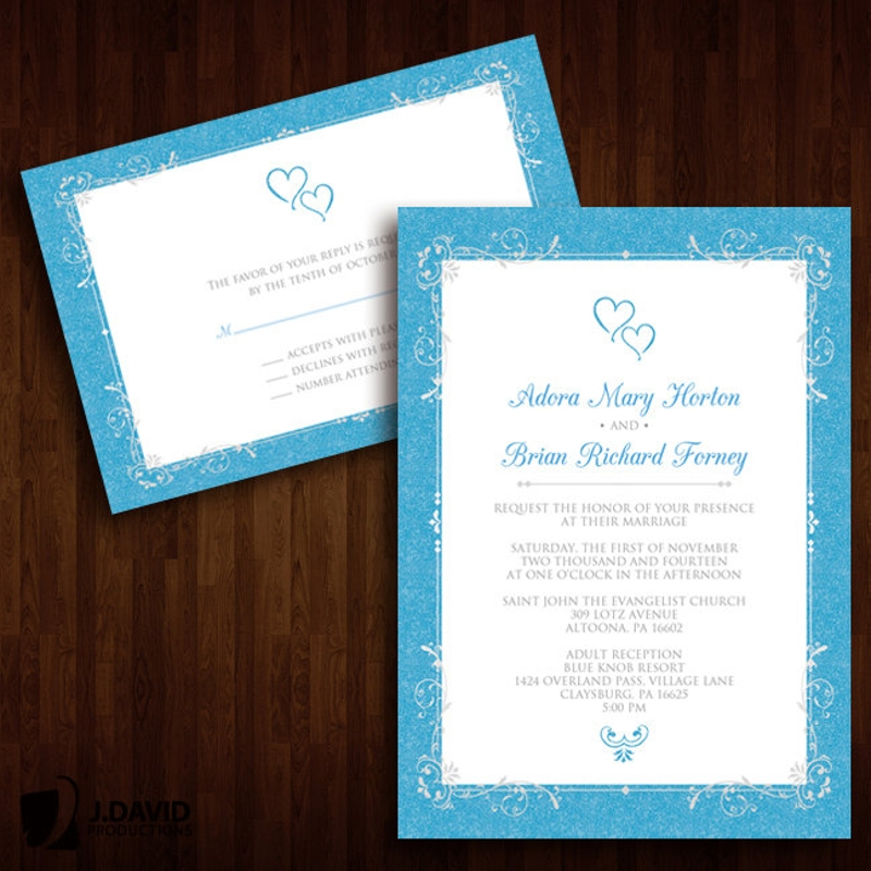 fancy and formal wedding invitation