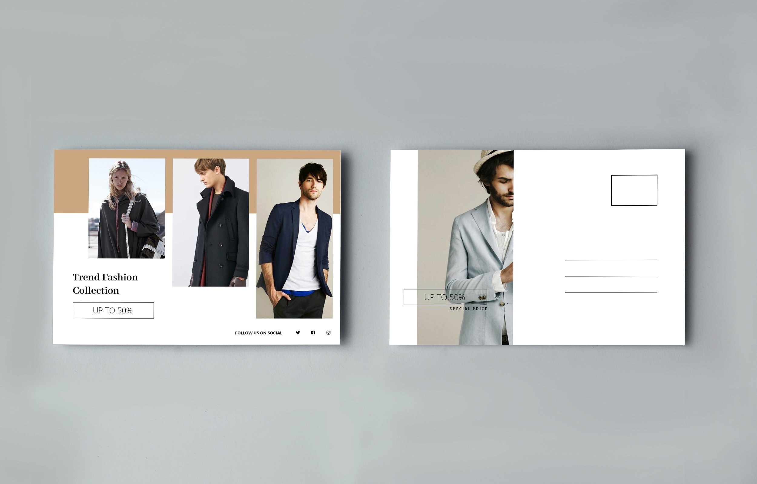 fashion photography postcard