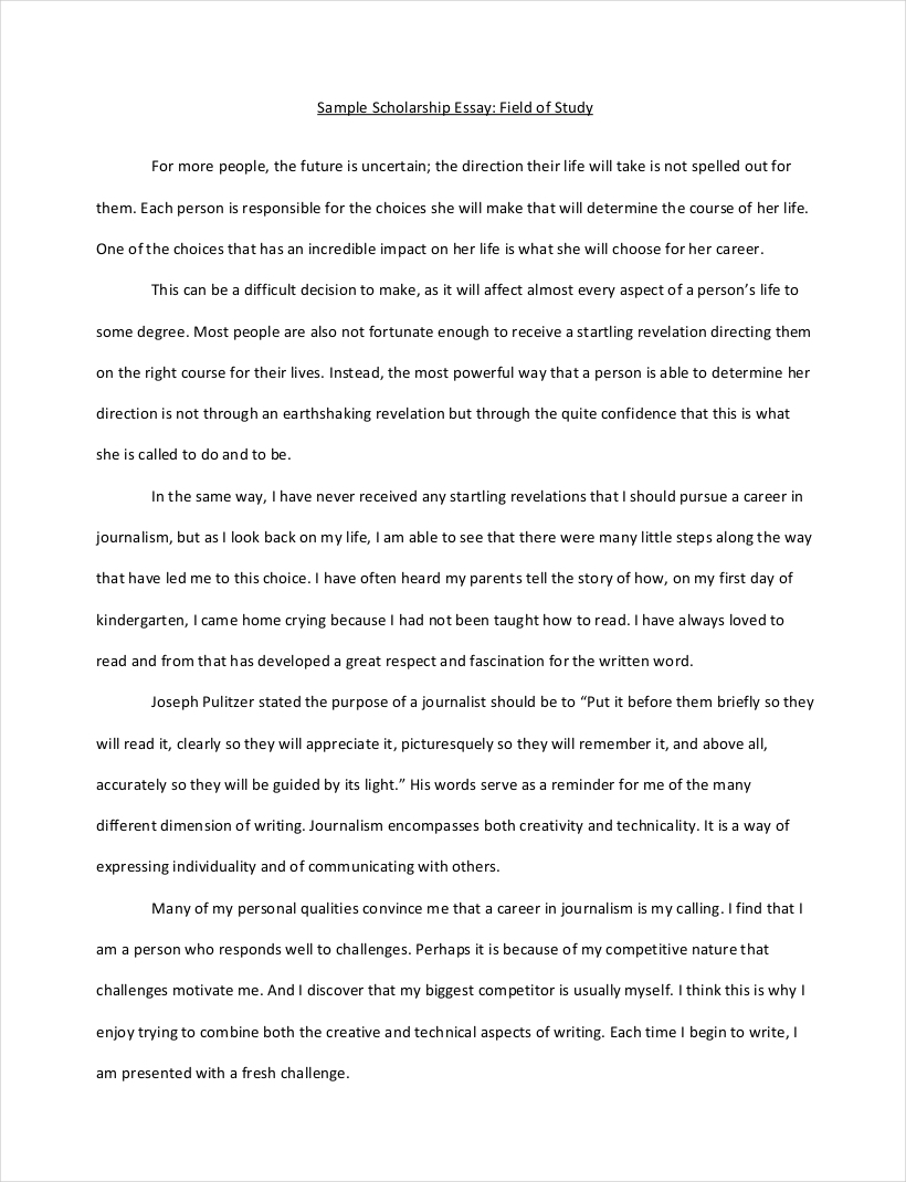 10 scholarship essay examples free pdf format download